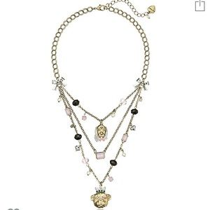 Betsy Johnson dog layered necklace